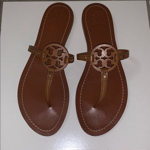 Tory Burch Shoes - Tory Burch Mini Miller Leather Thong Sandal